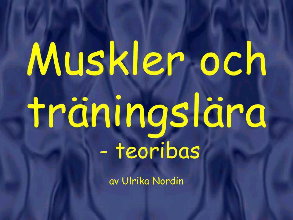 Muskler och träningslära - teoribas av Ulrika Nordin
