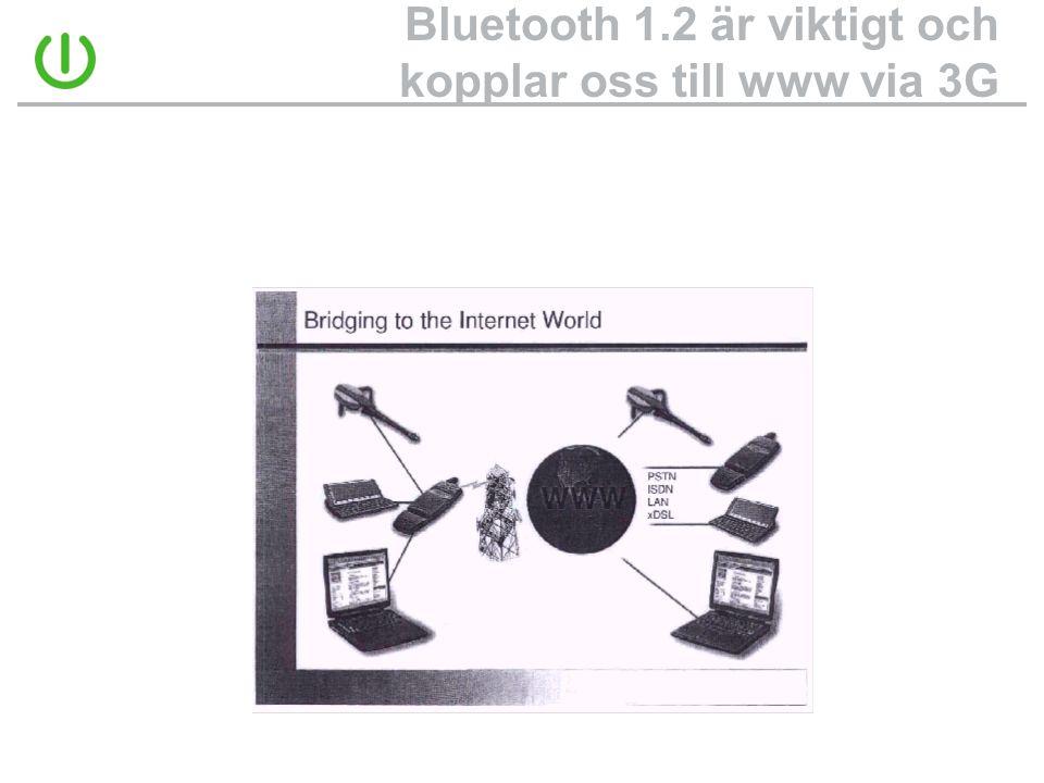 Bluetooth 1.2 är viktigt och kopplar oss till www via 3G