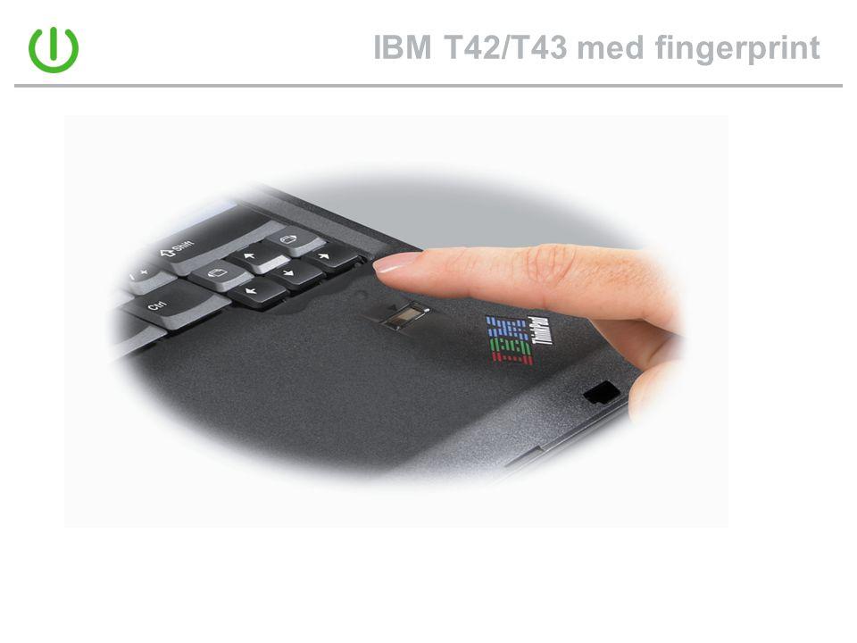 IBM T42/T43 med fingerprint