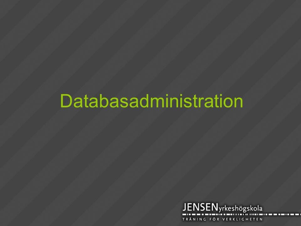 Databasadministration