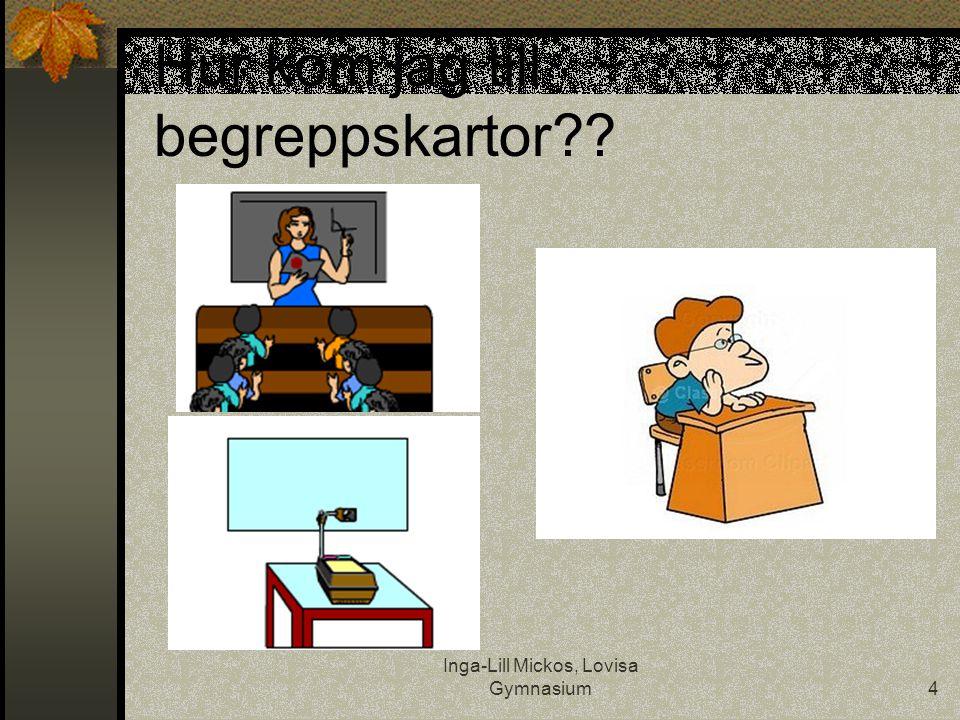 Inga-Lill Mickos, Lovisa Gymnasium4 Hur kom jag till begreppskartor??