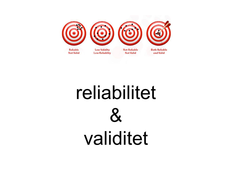 reliabilitet & validitet Text