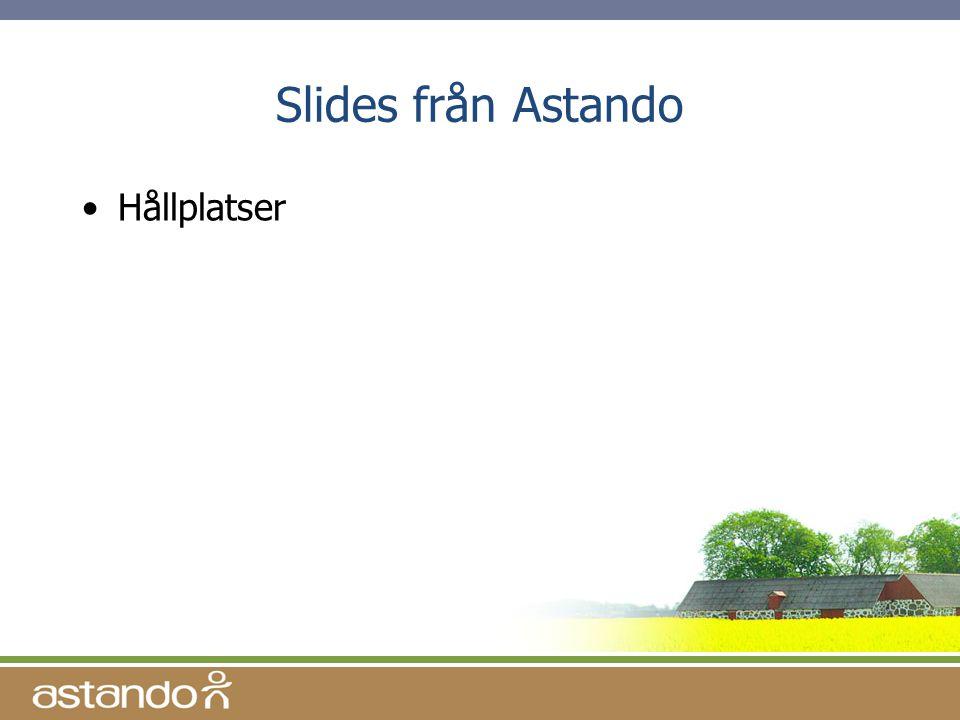 Slides från Astando •Hållplatser