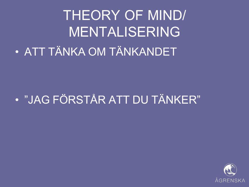 """THEORY OF MIND/ MENTALISERING •ATT TÄNKA OM TÄNKANDET •""""JAG FÖRSTÅR ATT DU TÄNKER"""""""