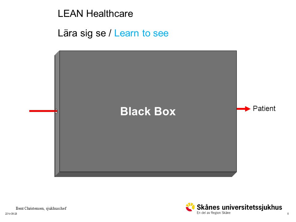 52014-06-26 Patient Black Box Bent Christensen, sjukhuschef Lära sig se / Learn to see LEAN Healthcare