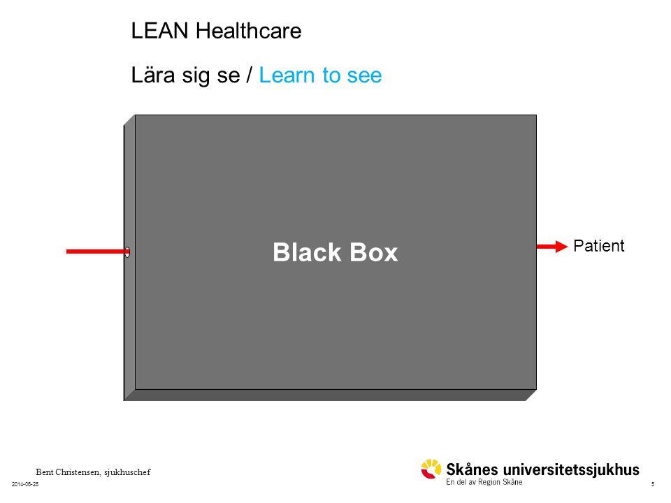 62014-06-26 Patient Våga titta in i svarta boxen Courage to look inside the black box Bent Christensen, sjukhuschef
