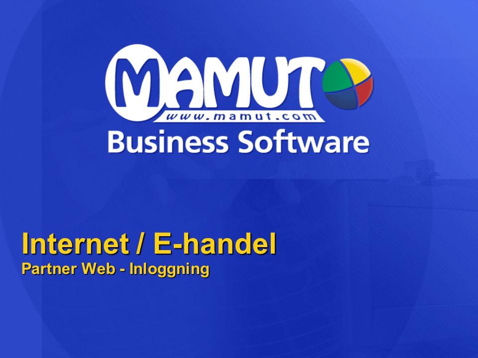 Internet / E-handel Partner Web - Inloggning