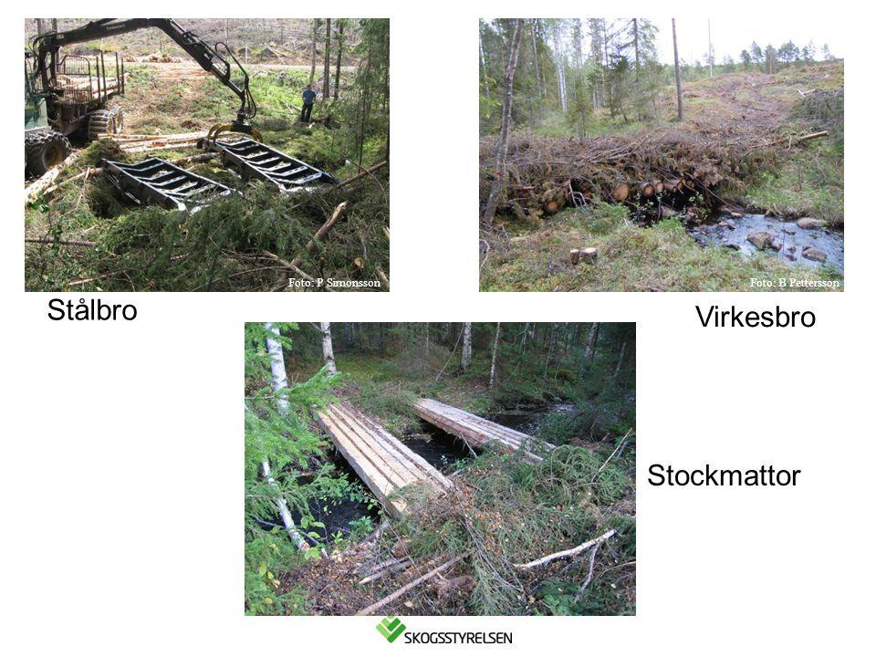Stålbro Virkesbro Stockmattor Foto: P SimonssonFoto: B Pettersson