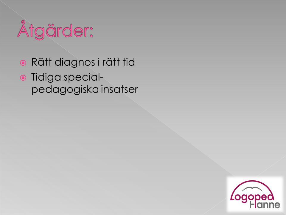  Tidiga special- pedagogiska insatser