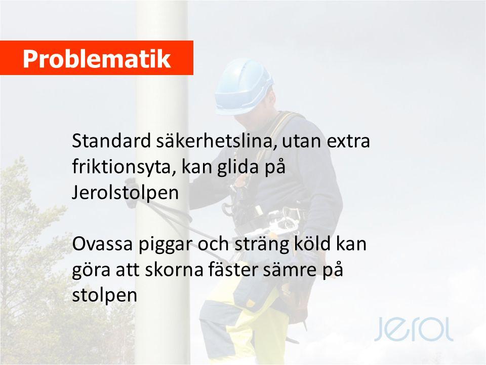 Kriterier att uppfylla Bra friktion mot Jerolstolpen Säker låsning till stolpytan Utnyttja standard godkänd klätter- och säkerhetsutrustning