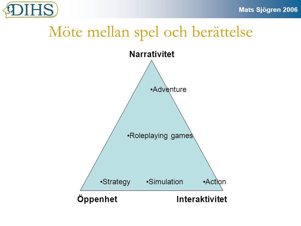 Mats Sjögren 2006 Angränsande forskning har redan gjorts med öppna texter.
