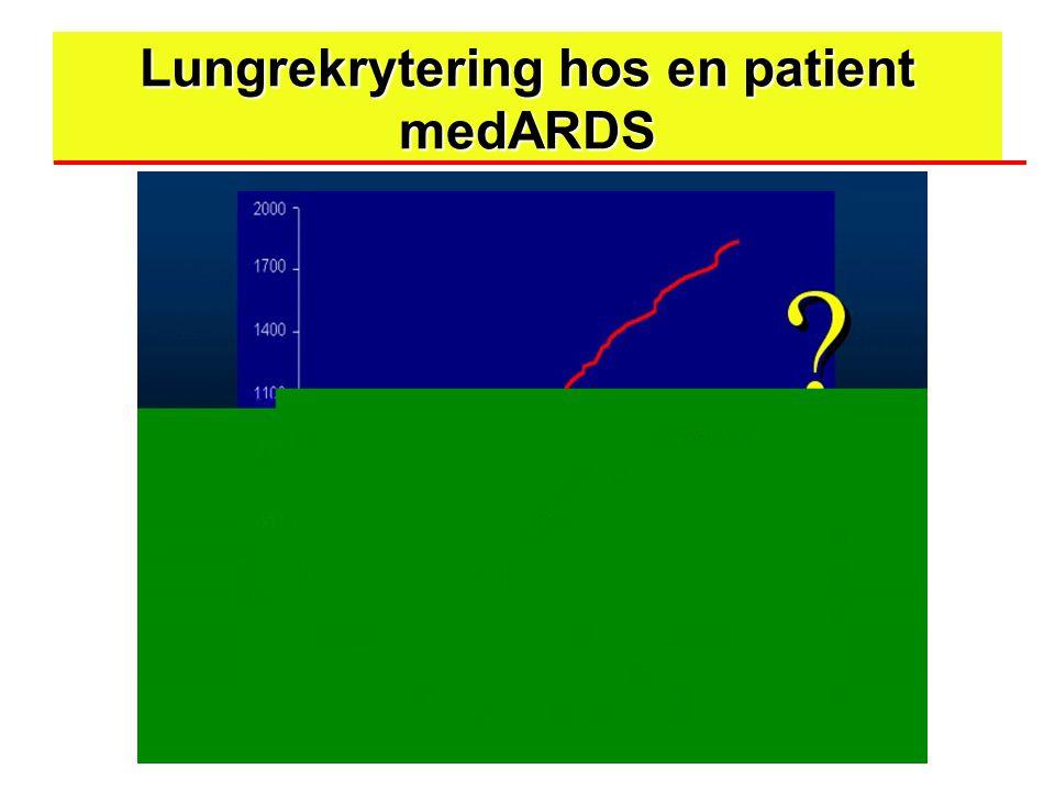 Lungrekrytering hos en patient medARDS