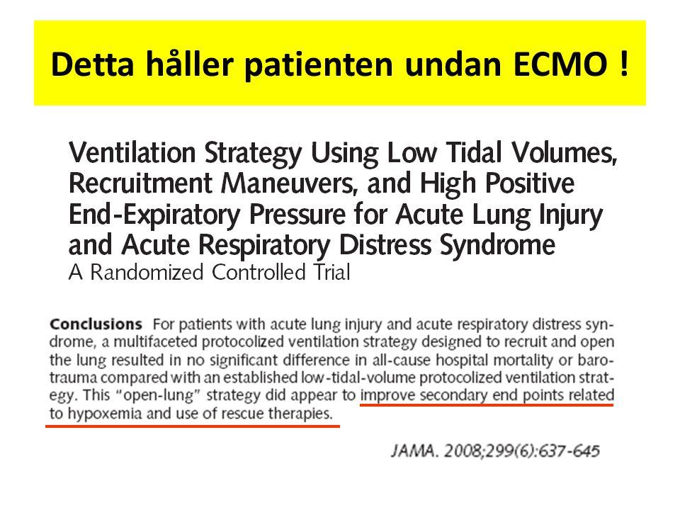 Detta håller patienten undan ECMO !