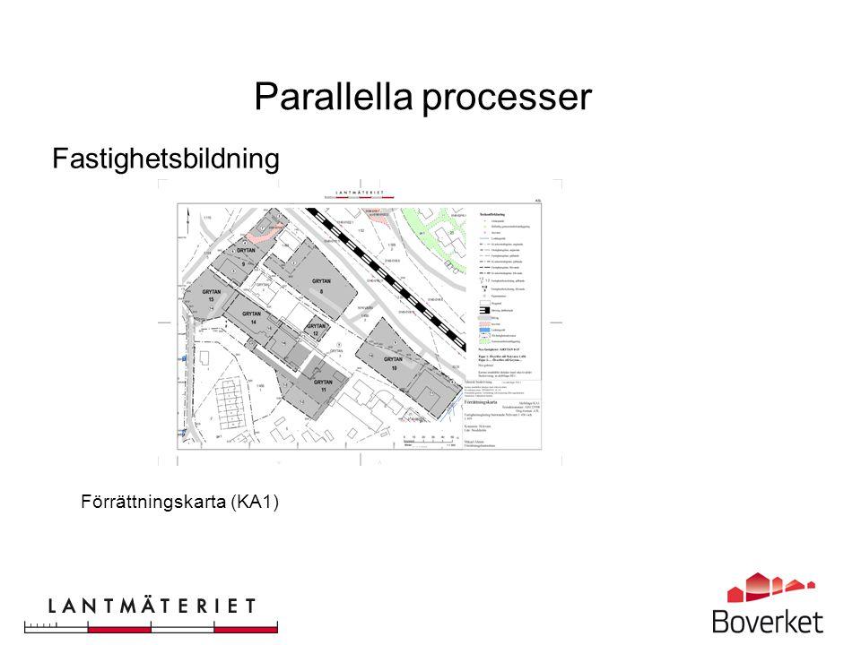 En sammanhållen process för detaljplanering och fastighetsbildning bygger på digital informationsförsörjning genom hela processen.