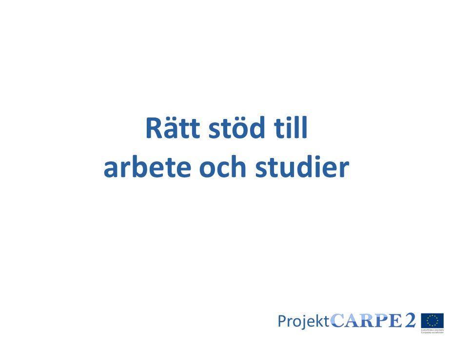 Rätt stöd till arbete och studier Projekt