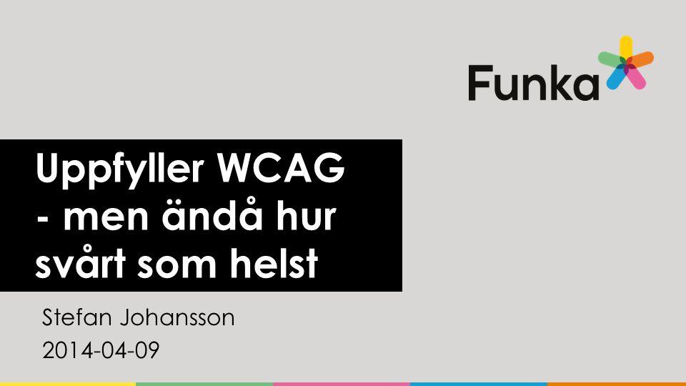Uppfyller WCAG - men ändå hur svårt som helst Stefan Johansson 2014-04-09