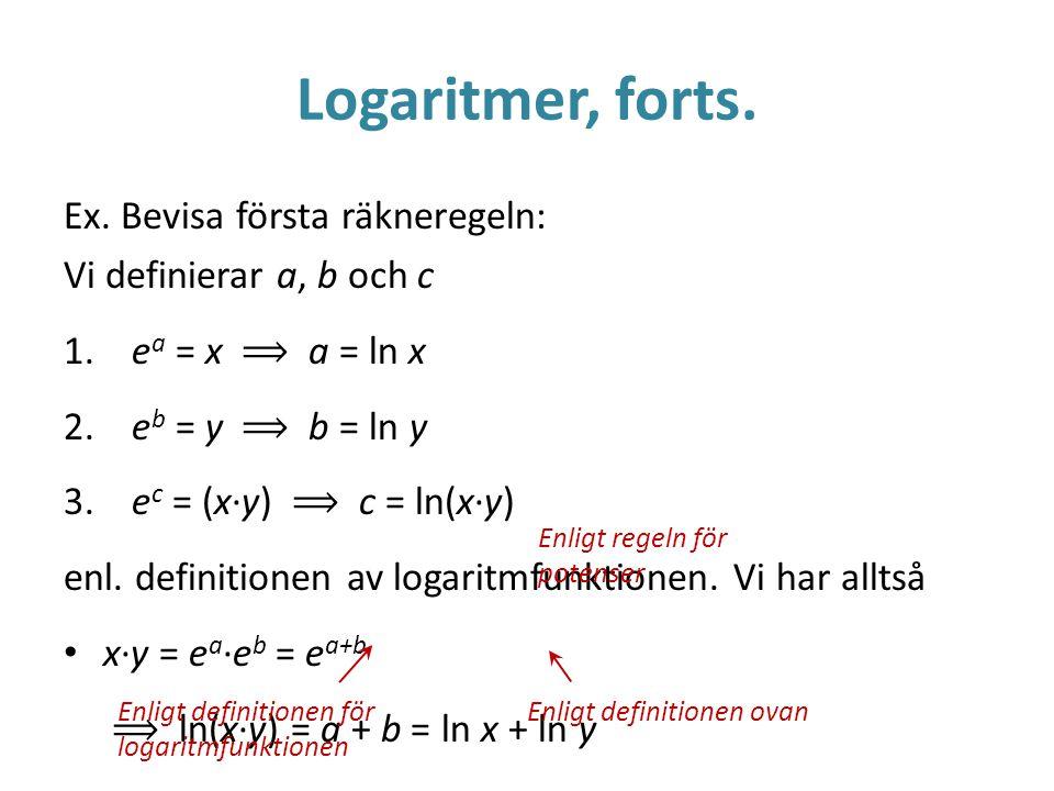 Logaritmer regler
