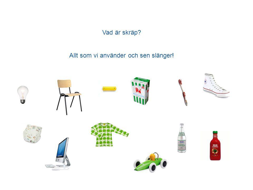 Vad är skräp? Allt som vi använder och sen slänger!