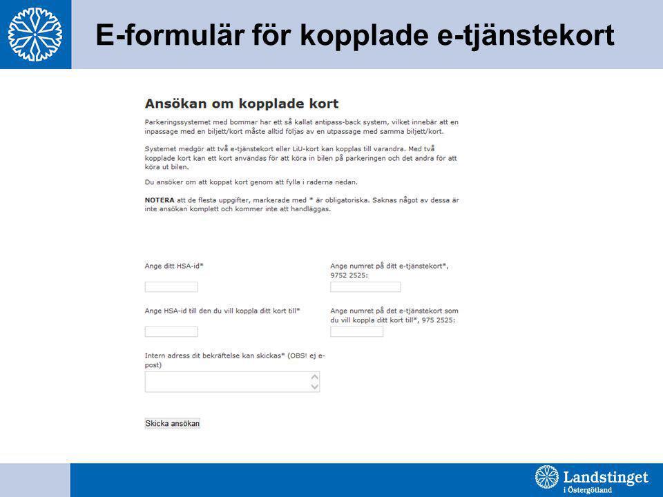 E-formulär för kopplade e-tjänstekort