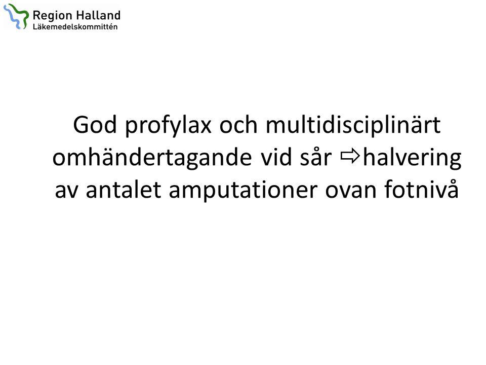 God profylax och multidisciplinärt omhändertagande vid sår  halvering av antalet amputationer ovan fotnivå