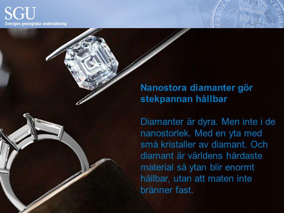 Nanostora diamanter gör stekpannan hållbar Diamanter är dyra. Men inte i de nanostorlek. Med en yta med små kristaller av diamant. Och diamant är värl