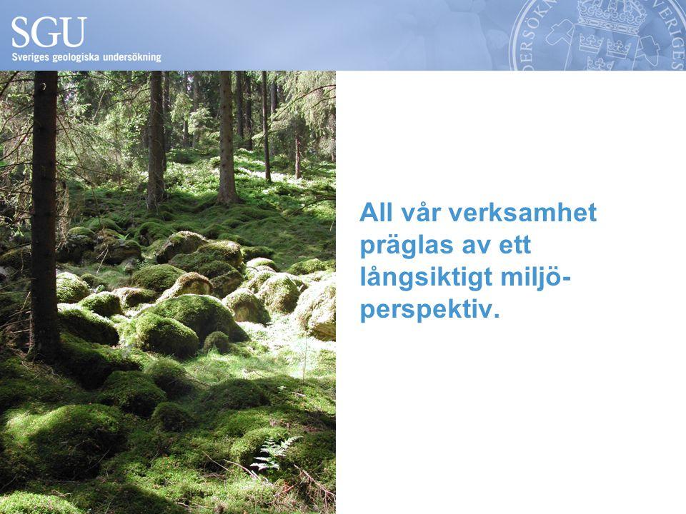 All vår verksamhet präglas av ett långsiktigt miljö- perspektiv.
