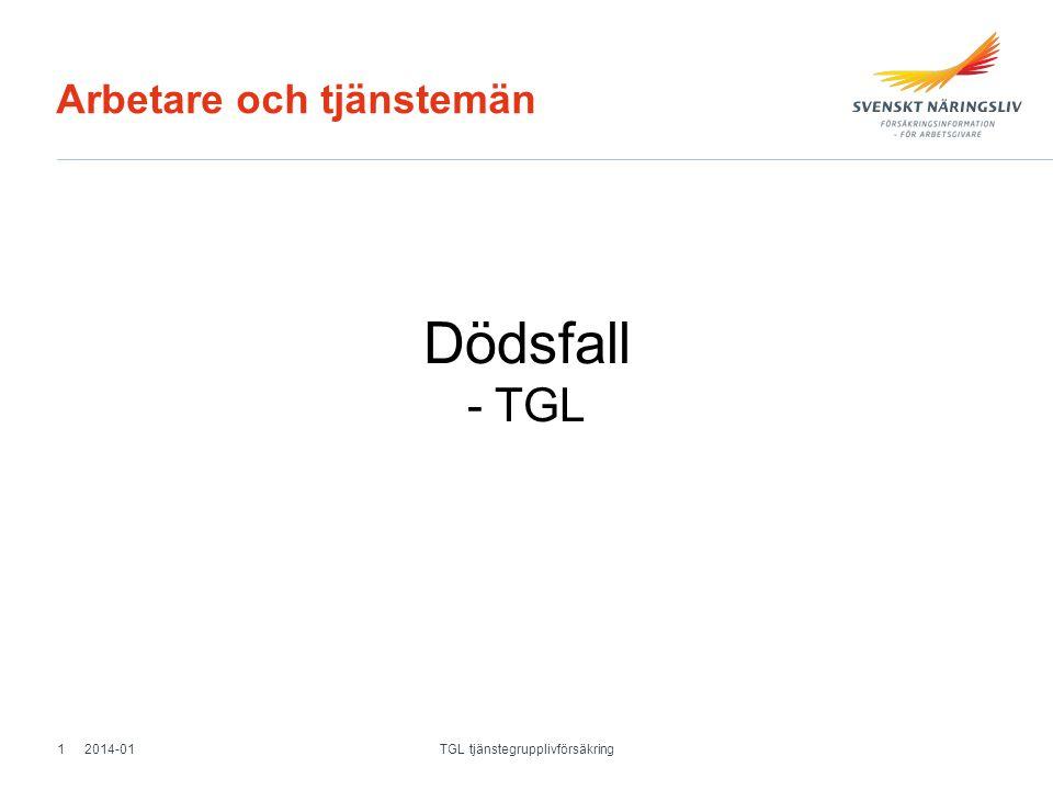 Arbetare och tjänstemän Dödsfall - TGL 2014-011 TGL tjänstegrupplivförsäkring