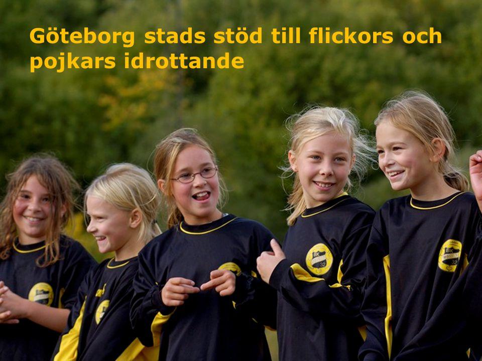 Göteborg stads stöd till flickors och pojkars idrottande