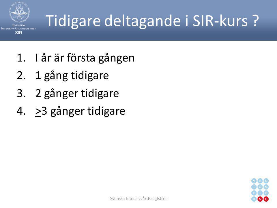 Svenska Intensivvårdsregistret15 VTS