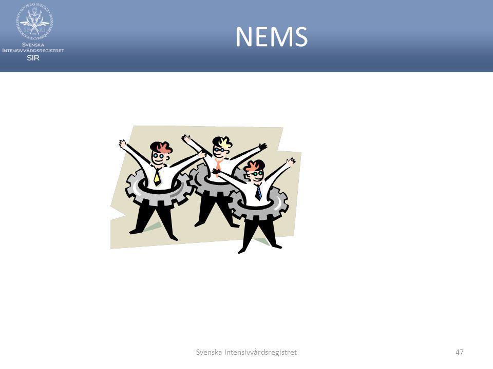 NEMS Svenska Intensivvårdsregistret47