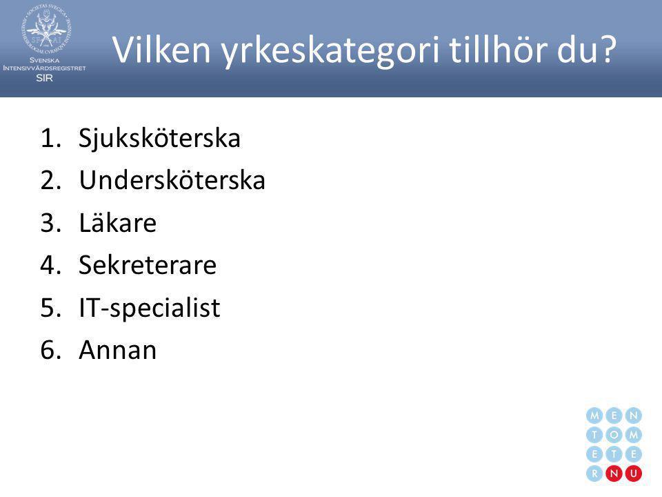 Svenska Intensivvårdsregistret109