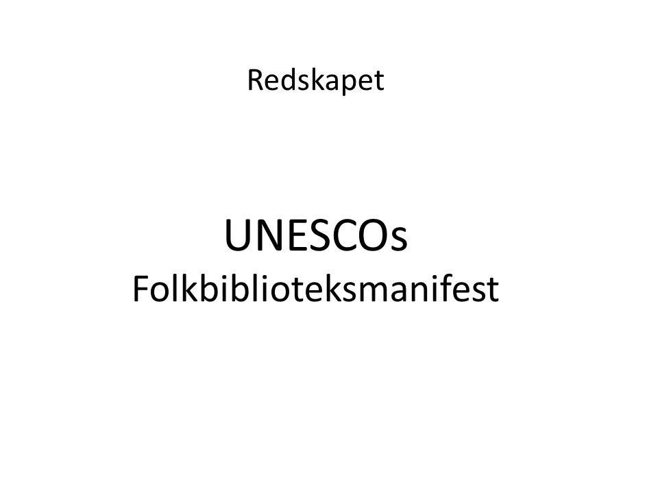 Redskapet UNESCOs Folkbiblioteksmanifest