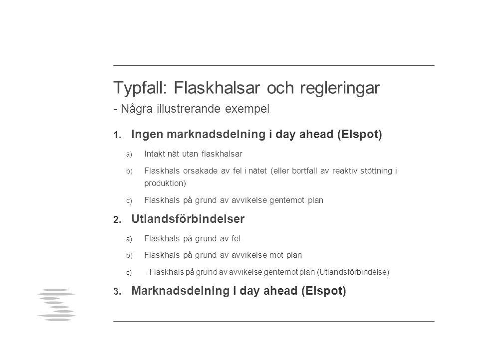 Typfall: Flaskhalsar och regleringar - Några illustrerande exempel 1.