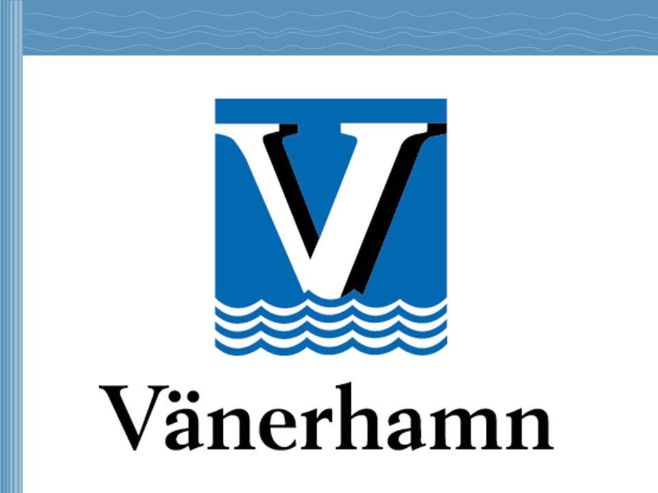 Vänerhamn AB •En av Sveriges största hamnaktörer •Hanterar ca 2,7 miljoner ton gods årligen (varav 1,5 miljoner ton sjögods) •Omsättning i kr 2012; 157 milj.
