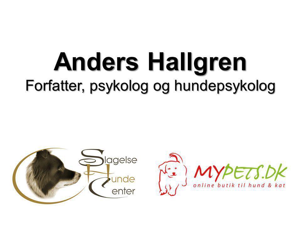 Anders Hallgren Forfatter, psykolog og hundepsykolog