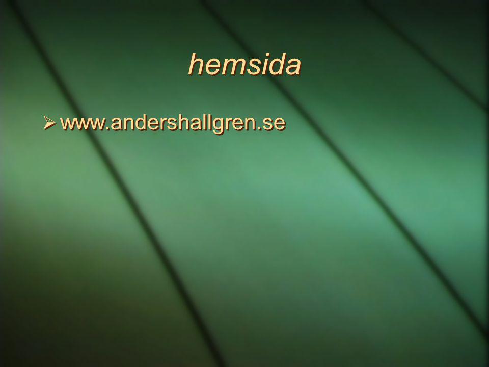 hemsida  www.andershallgren.se