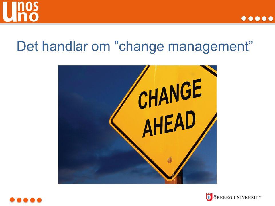 """Det handlar om """"change management"""""""