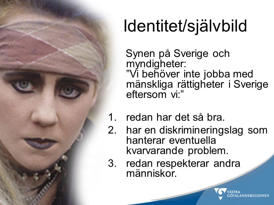 Synen på Sverige och myndigheter: Vi behöver inte jobba med mänskliga rättigheter i Sverige eftersom vi: 1.redan har det så bra.
