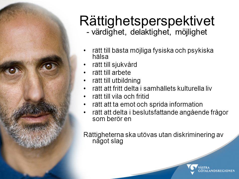 •rätt till bästa möjliga fysiska och psykiska hälsa •rätt till sjukvård •rätt till arbete •rätt till utbildning •rätt att fritt delta i samhällets kul