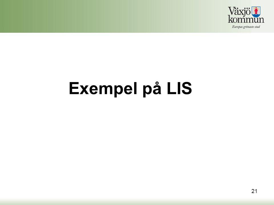 Exempel på LIS 21