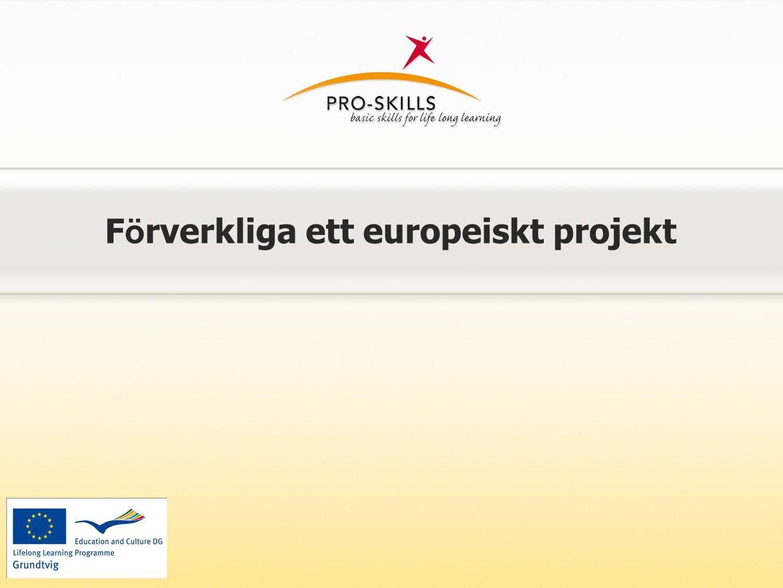 F ö rverkliga ett europeiskt projekt