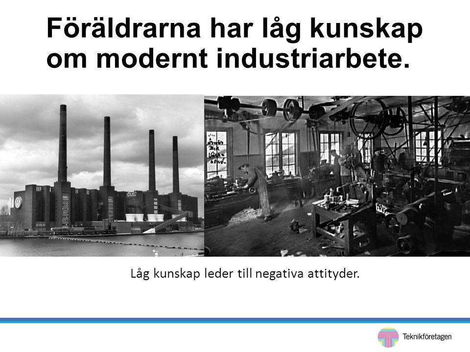 Föräldrarna har låg kunskap om modernt industriarbete. Låg kunskap leder till negativa attityder.
