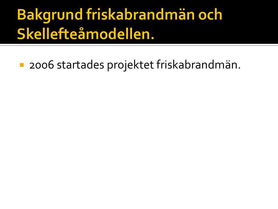  2006 startades projektet friskabrandmän.