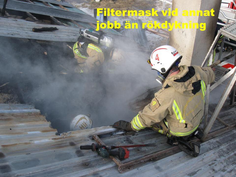Filtermask vid annat jobb än rökdykning