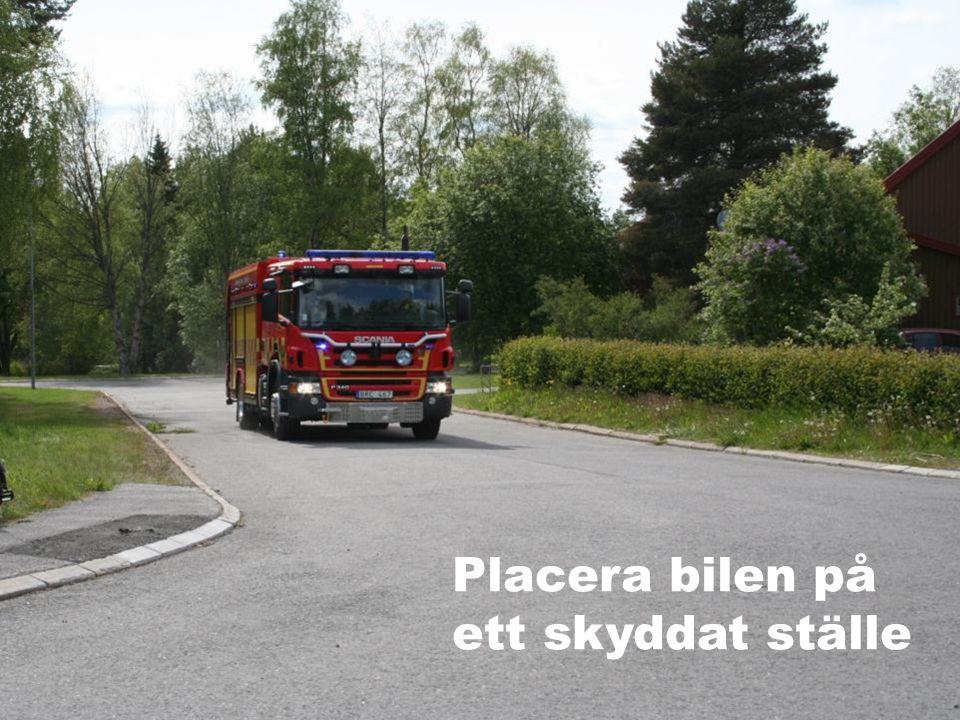 Placera bilen på ett skyddat ställe