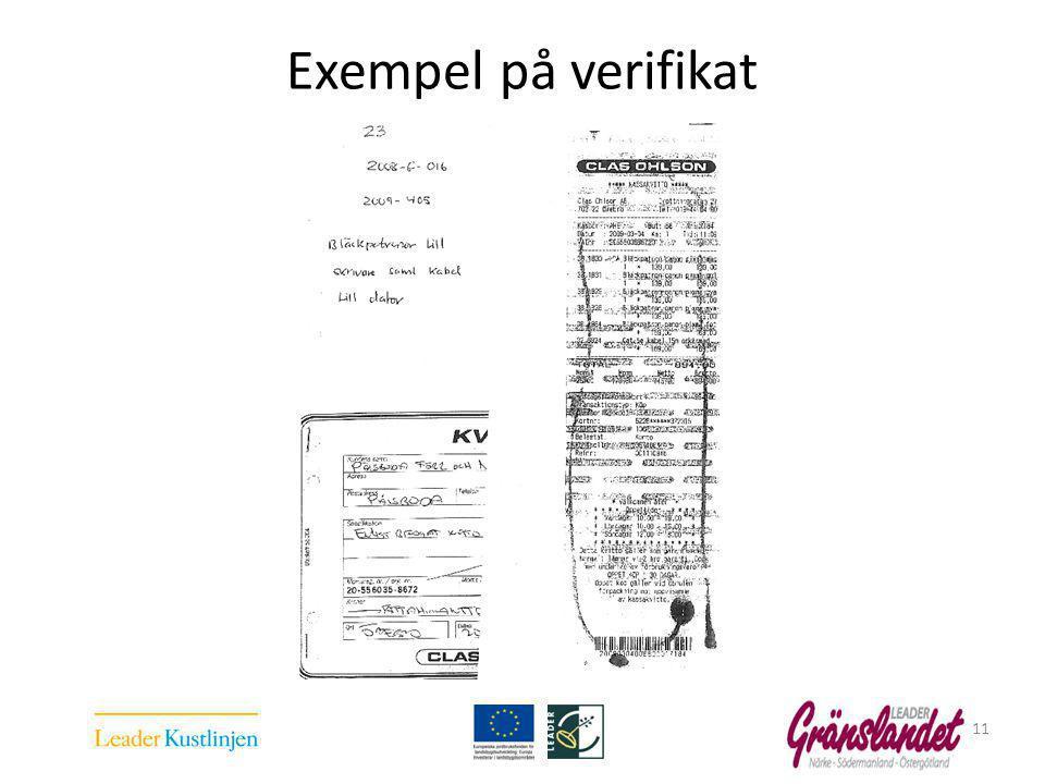 Exempel på verifikat 11
