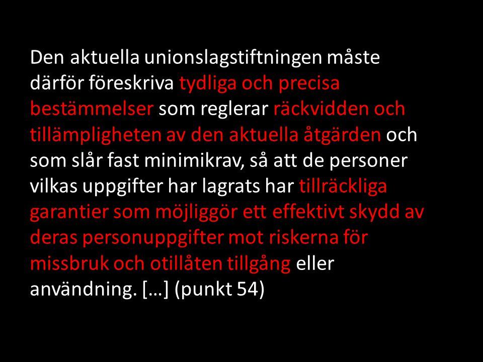 A. Lagringens omfattning (punkt 56-59)