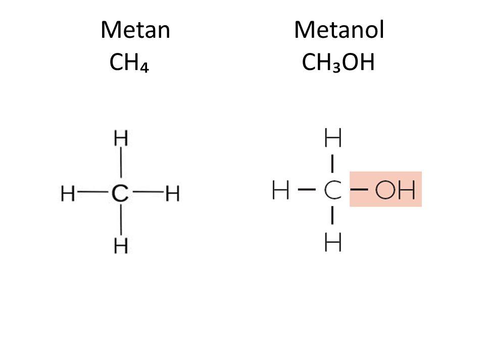 Metan Metanol CH₄ CH₃OH