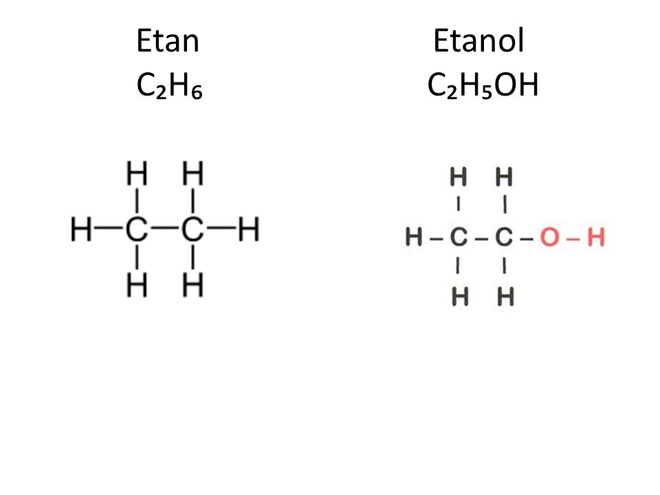 Etan Etanol C₂H₆ C₂H₅OH