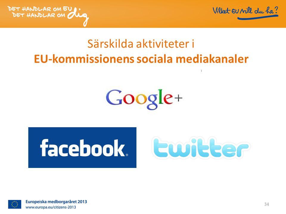 Särskilda aktiviteter i EU-kommissionens sociala mediakanaler 34